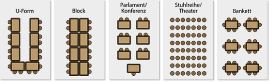 Hotel Wittelsbacher Höh - Seating Plans - Conference Rooms